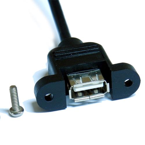 Cavo-costampaggio-hot-melt-USB-A-jack-femmina-viti-pannello-2.0