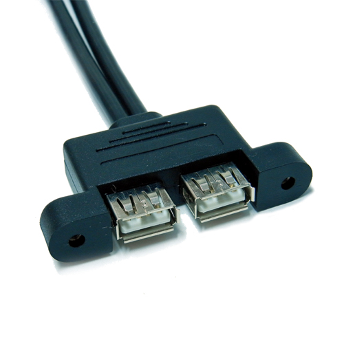 cavo-costampaggio-hot-melt-USB-A-Doppio-pannello-viti