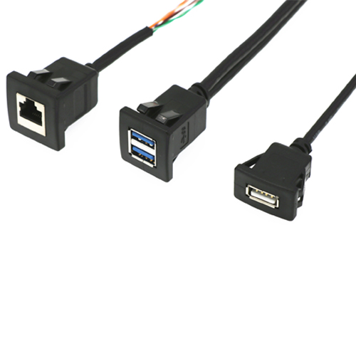 rj45-usb-3.0-3.1-doppio-2.0-cavo-pannello-clip-snap-in